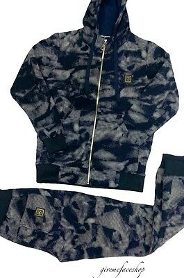 Time is Money camouflage tracksuit, blue premium collection hip hop street urban