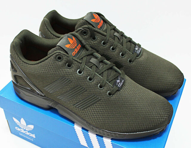official photos 90b8d 14109 $90 NIB ADIDAS ZX FLUX Men's Night-Cargo Green Low Top Trainers running  shoes