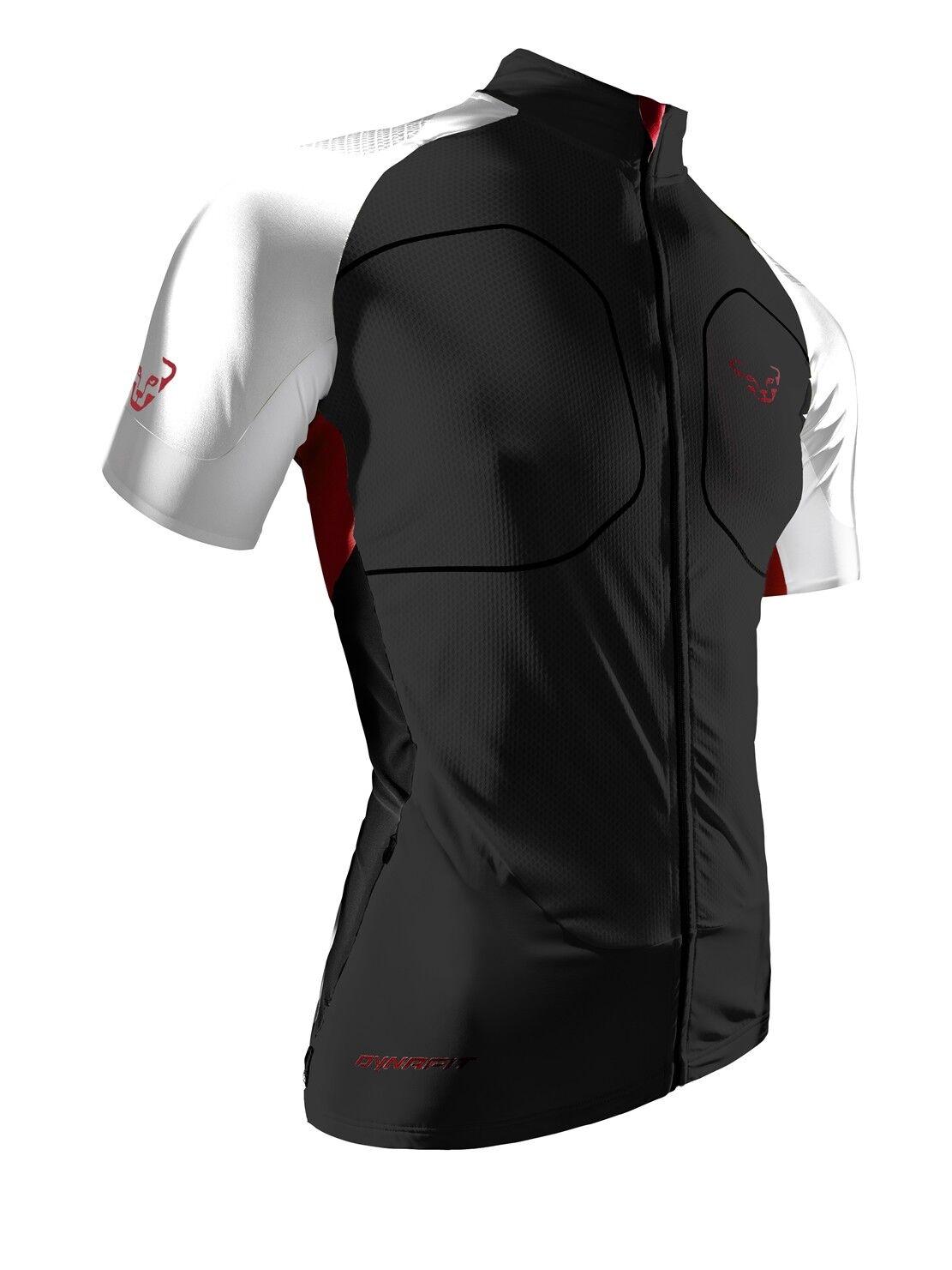NEW Dynafit GRAVEL Mens Medium S S Full Zip Tee Trail Running T Shirt Msrp 150