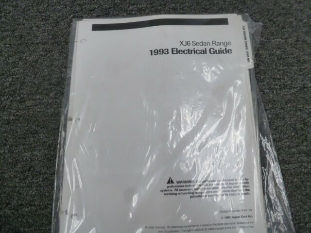 1993 Jaguar Xj6 Sedan Electrical Wiring Diagrams Manual