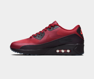 NIKE AIR MAX 90 ULTRA 2.0 ESSENTIAL TRAINER MEN SHOES RED 875695-602 SZ 12 NEW