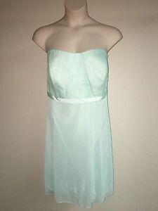 c47aceef39bf Davids Bridal Dress Bridesmaid Mint Plus Size 26 Strapless Lace Mesh ...