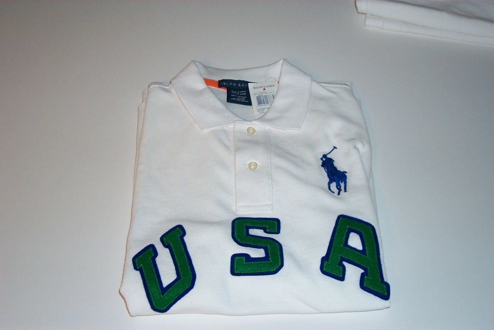 NWT POLO RALPH LAUREN LADIES SS Weiß POLO SHIRT USA BIG PONY  LARGE