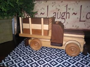 Handmade-Vintage-Style-Wooden-Truck-Crafted-By-Chip-Hower-Montessori-Stacking