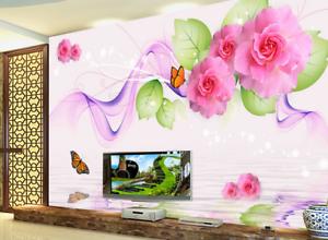 3D Schmetterlinge bluemen 45 Tapete Tapeten Mauer Foto Familie Tapete Wandgemälde