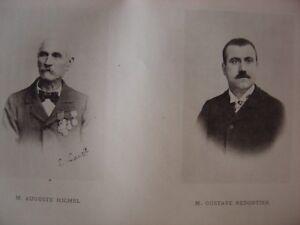Portrait Phototypie Jean Baptiste Auguste MICHEL Né à Limans Gustave REDORTIER - France - Thme: Portrait, Autoportrait - France