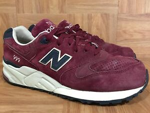 RARE-New-Balance-ML999BNV-Suede-Pack-Deep-Burgundy-Red-Sz-10-Men-039-s-Trainers-LE