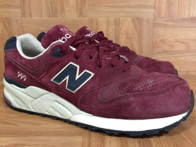 RARE🔥 New Balance ML999BNV Suede Pack Deep Burgundy Red Sz 10 Men's Trainers LE