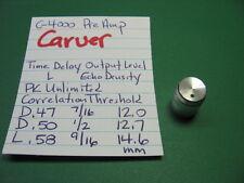 CARVER C-4000 PRE AMPLIFIER KNOB TIME DELAY OUTPUT LEVEL ECHO DENSITY CORRELAT