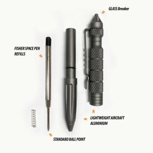UZI DEFENDER Self Defense Glass Breaker TACTICAL PEN GUN METAL Tacpen2 Aircra...