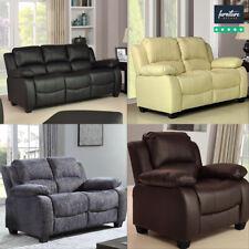 Valerie Luxury Leather Sofa Suites, Black, Brown, Cream | Sofa Sets & Footstools