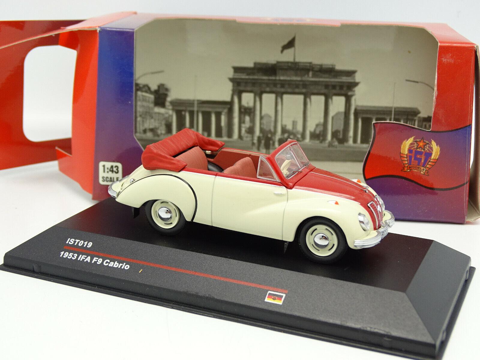 marca en liquidación de venta Ist 1 43 43 43 - Ifa F9 Cabrio 1953 Rojo y blancoo  solo cómpralo