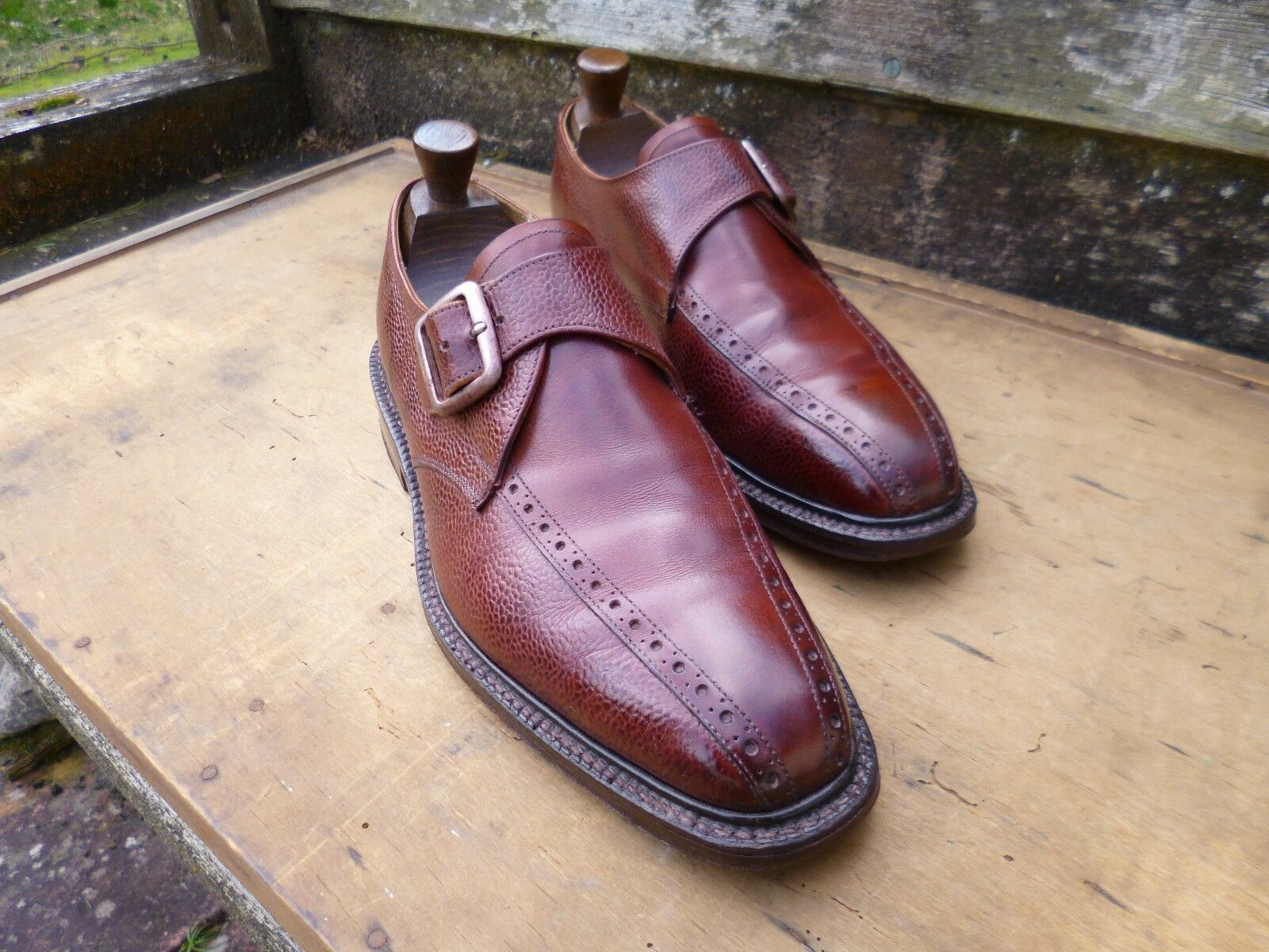 CHEBNEY / CHURCH MONK STRBP – BROWN / TBN – UK 7.5 – GOUGH-EXCELLENT  CONDITION