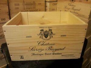 3 X Genuine French Wooden Wine Crate * Boîte Planteur Enfants Tiroirs De Rangement +-afficher Le Titre D'origine