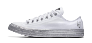 New Converse X Miley Cyrus Chuck Taylor All Star White Silver ... 57ceb689a