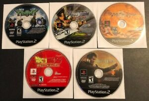 PS2-Action-Video-Game-lot-TMNT-Dragon-Ball-Z-Dynasty-Warriors-5