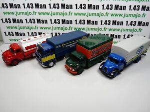 lot-4-CAMIONS-truck-LKW-1-43-DeAgostini-IXO-magirus-MAN-esso-Mercedes-VOLVO-F88