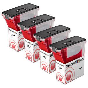 4PK-797-0-for-Pitney-Bowes-K700-Postage-Mail-Red-Ink-Cartridge-MailStation-K700