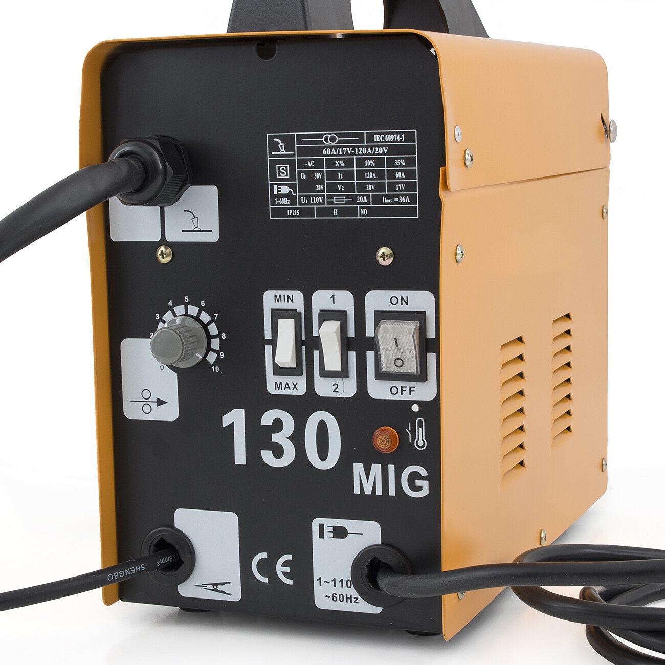Arksen Mig 130 Flux Core Wire Welder Welding Machine Automatic Feed 110 Wiring Diagram Unit Ebay