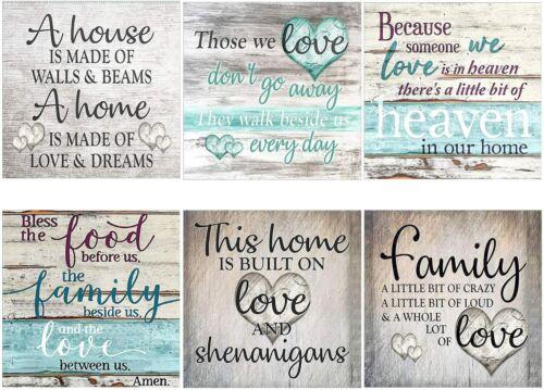HOME LOVE HEAVEN FAMILY 5D DIY FULL DRILL DIAMOND PAINTING KITS ROUND DRILLS NEW