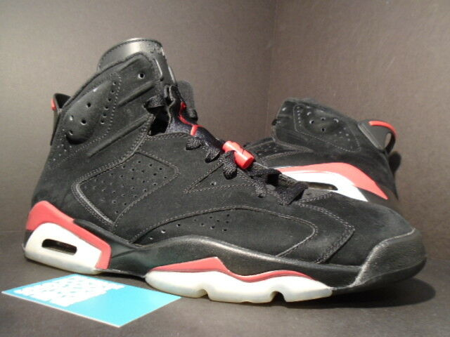 wholesale dealer 52f91 e0c9d 09 09 09 Nike Air Jordan VI 6 Retro BLACK VARSITY FIRE RED BRED WHITE 384664