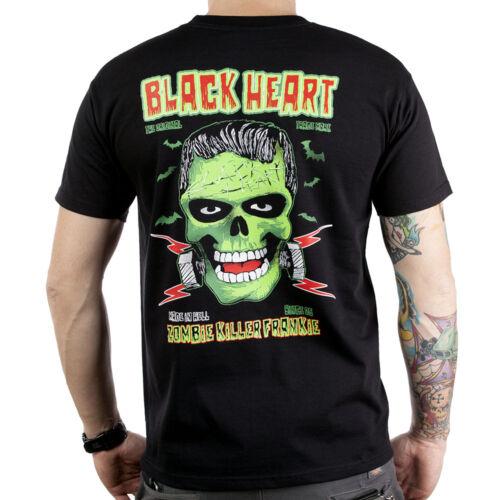 Mens-rockabilly-biker-greaser-psychobilly-black heart-frankie T Shirt