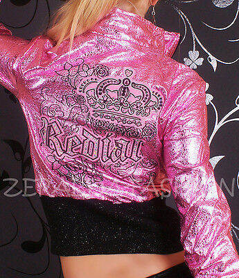 HOT SEXY DAMEN* CRASH* WET* LOOK* LEDER* JACKE* REDIAL* STICKEREI* STRASS* S M L