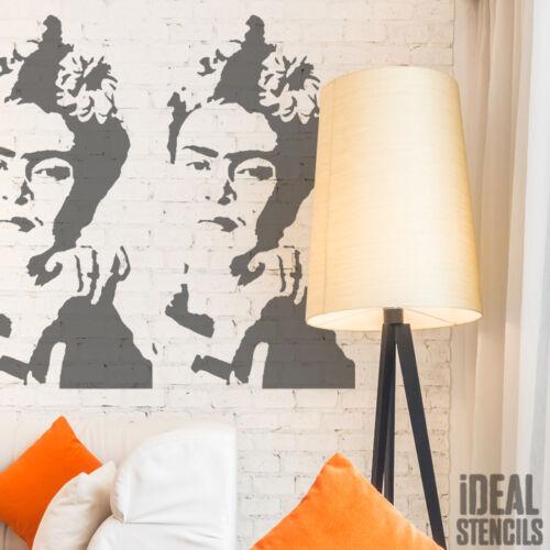 Frida Kahlo Retrato Plantilla Reutilizable Pared Decoración Pintura Manualidades