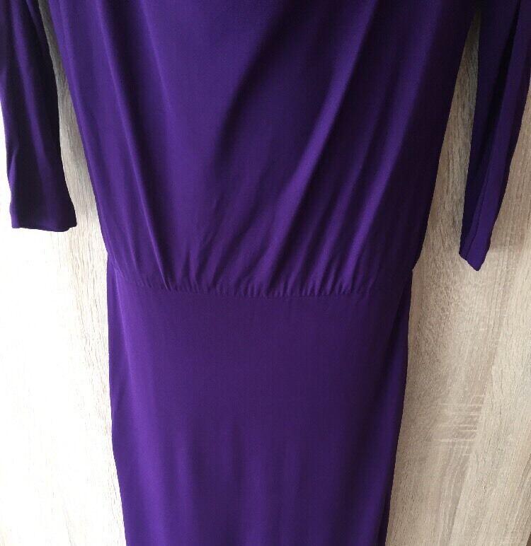 Splendido HALSTON HERITAGE Viola Donna Abito Vestito Vestito Vestito SZ 2 UK6 RRP 0c5bf5