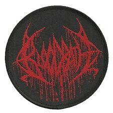 BLOODBATH - Patch Aufnäher logo rund RED 9x9cm
