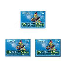 3 TDK Mini DV 60 Camcorder Tapes SP60 - LP90