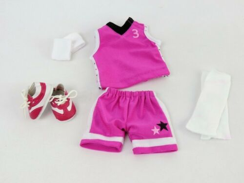 """Basketball Uniform /& Ball For 14.5/""""  Wellie Wishers American Girl Doll Clothes"""