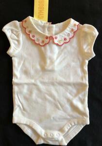 Gymboree Pretty Pea 0-3-6-12-18-24 Bodysuit One-Piece Pink White 11