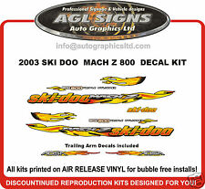 2003 SKI-DOO MACH Z 800 DECAL KIT WITH TRAILING ARMS , reproduction