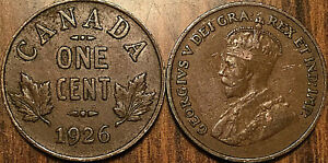 1926-CANADA-SMALL-1-CENT-COIN-PENNY-VG-TO-F-BUY-1-OR-MORE-ITS-FREE-SHIPPING