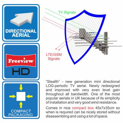 MINI DIGITAL TV AERIAL WIDEBAND FREEVIEW HD IDEAL MOTORHOME CARAVAN BOAT CAMPING