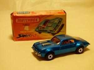 Matchbox-Superfast-Vintage-1975-no-4-Pontiac-Firebird-Diecast-Auto-Azul-Juguete-en-Caja