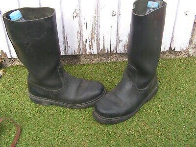 ancienne 41shoes bottes en taille ueBay cuir pompier O0vwmNn8