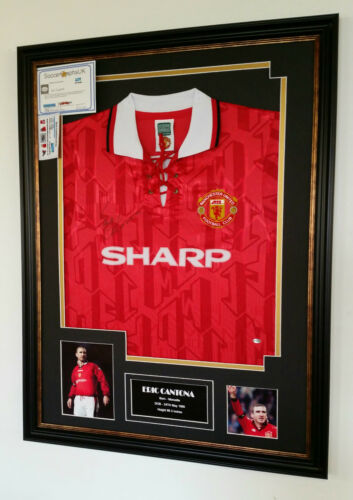 SPECIAL Eric Cantona of Manchester United Signed Shirt with Certificate