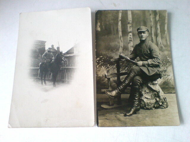 2 Original photos. 1926. Red Army man of 1 horse artillery division.