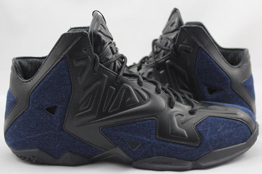 Nike LeBron James XI 11 EXT QS DENIM Noir Bleu NSW 659509-004