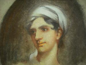 Interesting-Portrait-Orientalist-of-Young-Woman-the-Pastels-c1900-Orientalism