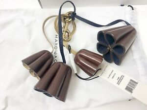 NWT-Marc-Jacobs-Leather-Flower-Key-Chain-Rose-Brown-New-In-Box-150-NEW-T1
