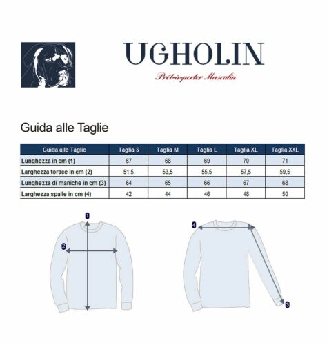 Ugholin Maglione Uomo Cachemire Scollo con Cerniera Maniche Lunghe