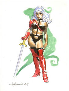 MIKE-HOFFMAN-SUPERHEROINE-COMMISSION-COLOR-DRAWING-You-Choose-the-Character