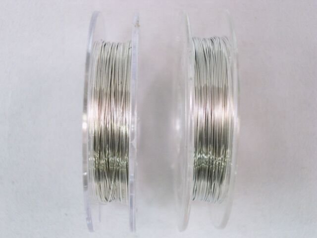 Beading Wire 28 Gauge 0.3mm 2 x 10m Rolls Silver Craft Jewellery FREE POSTAGE