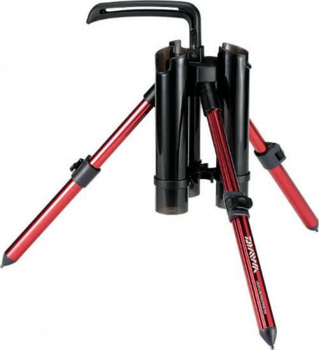 Details about  /Daiwa 869546 Tripod Type Light Lure Fishing Rod Stand 300 Red Japan Tracking