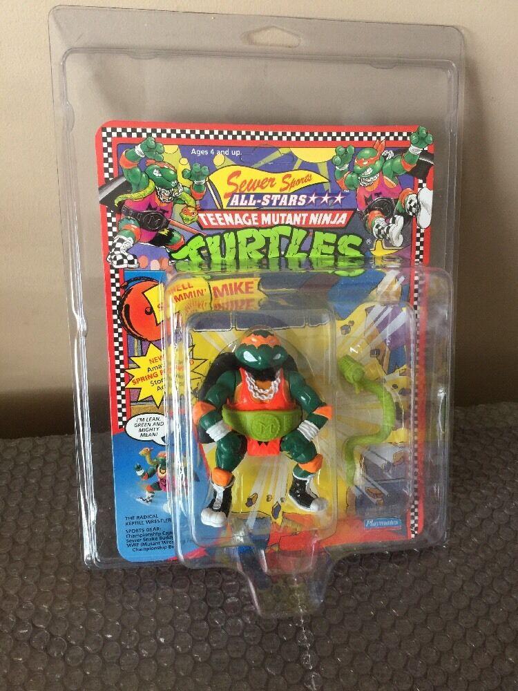 Playmates Teenage Mutant  Ninja Turtles TMNT 1991 Shell Slammin Mike CASE FRESH    migliore offerta