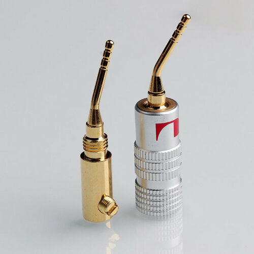 Nakamichi 2mm Pin Speaker Banana Plug Adapter Wire Connector Gold Plated Hot 8