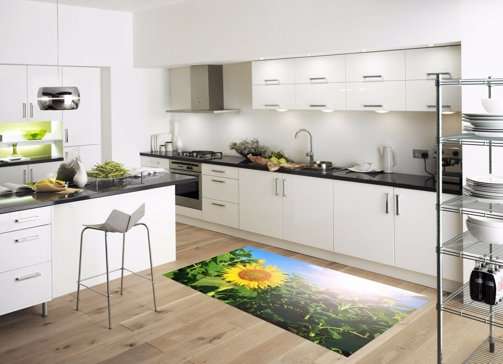 3D Sun Flower 752 Kitchen Mat Floor Murals Wall Print Wall AJ WALLPAPER AU Carly